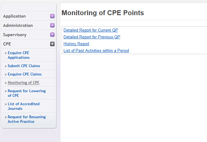 Monitoring of CPE Points
